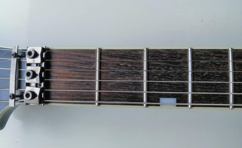 Guitar Fretboard From above