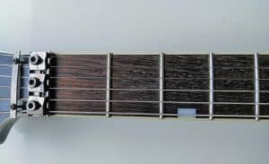 Guitar Fretboard From above, explains the topic how to read guitar tabs