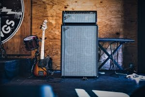 Guitar Amplifier, Cabinet and Guitar
