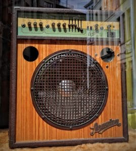 Old open-back guitar amplifier