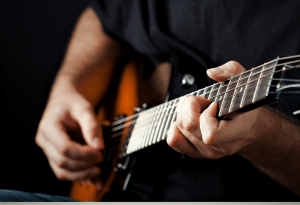Showcases the playability of great all-around guitar