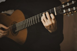 Photo shows reader complete classical guitar