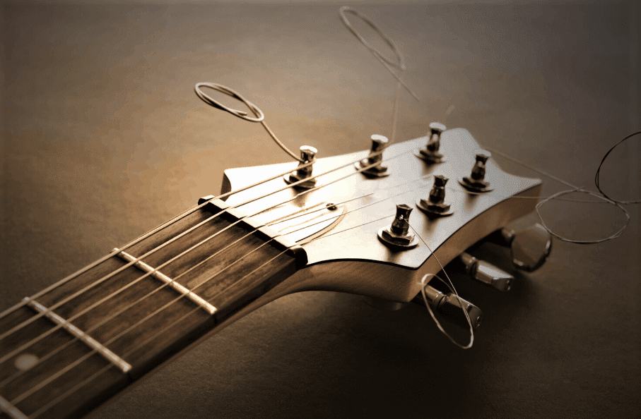 Photo shows readers electric guitar strings for blues