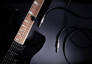 Photo shows readers a guitar and a guitar cable