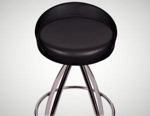 balck guitar stool with a backrest