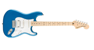 photo displays Squier Affinity Stratocaster HSS