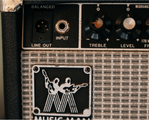 photo shows a line out jack in a guitar amp