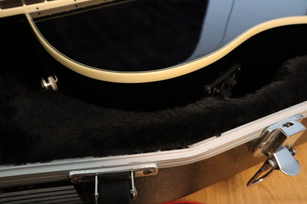 photo reveals what good fit with Gator Cases Deluxe ABS and dreadnought cutaway looks like 2