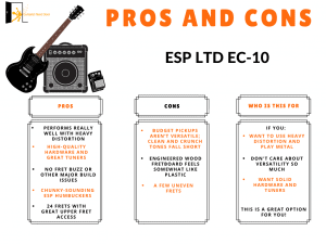 ESP LTD EC-10 Review pros and cons displayed for readers