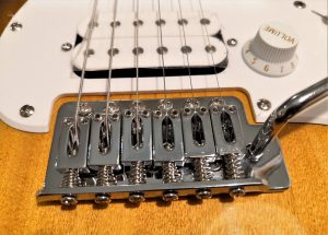 squier bullet stratocaster hardware displayed for readers