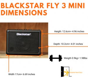 graph reveals Blackstar fly 3 mini dimensions