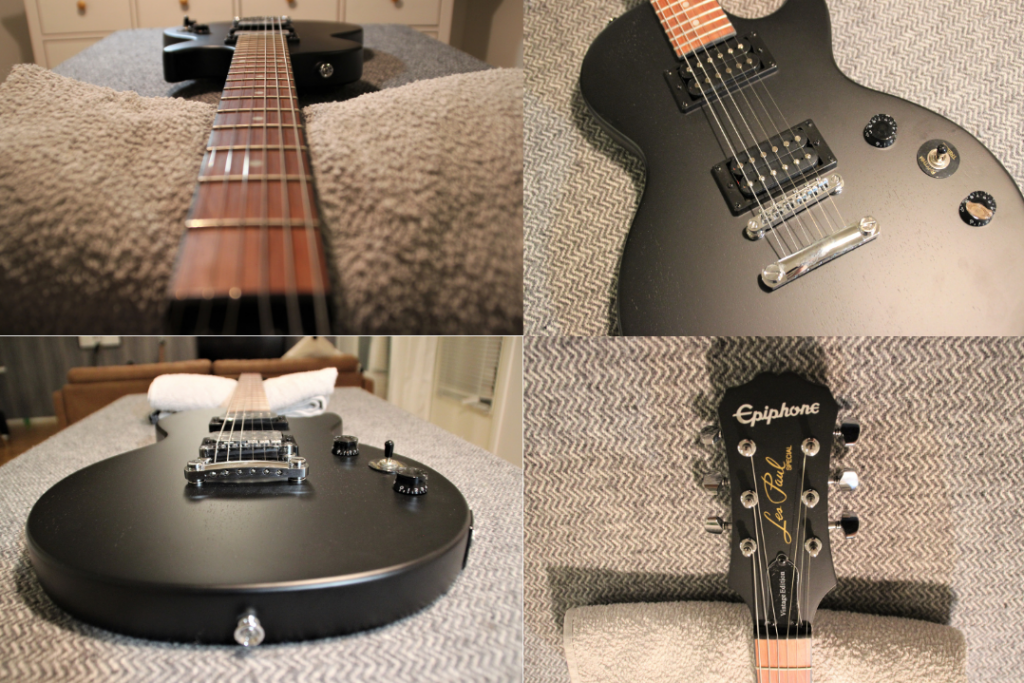 photo displays Epiphone Les Paul Special VE hardware quality