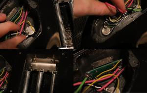 photo displays Ibanez Gio GRX70QA electronics