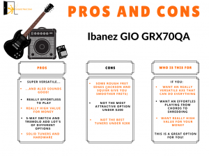graph reveals Ibanez Gio GRX70QA pros and cons