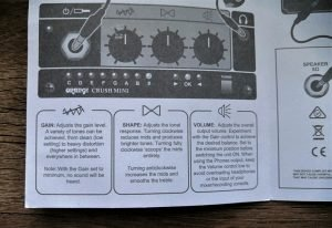 photo explains Orange Crush Mini Control Symbols