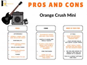 graph reveals Orange Crush Mini Pros and Cons