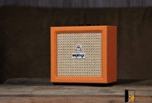 Orange Crush Mini displayed for readers