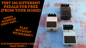 guitar effect pedals displayed for readers