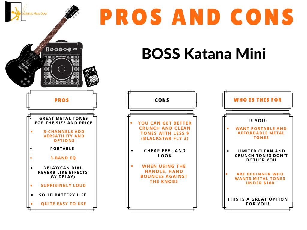 graph reveals boss katana mini pros and cons