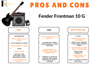 graph reveals fender frontman 10g pros and cons