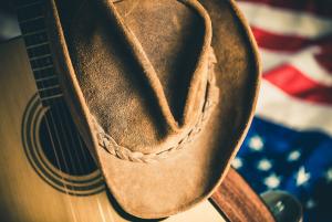 displyas an awesome bluegrass guitar