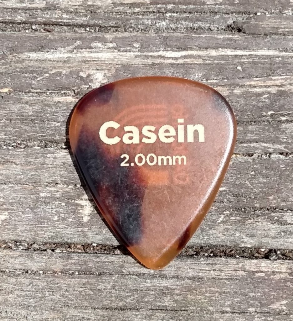 photo reveals D'Addario Casein Pick 2.00mm - longest life acoustic guitar pick