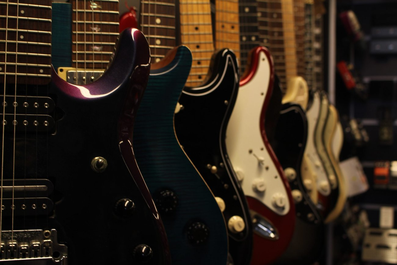 photo displays great guitar to choose from