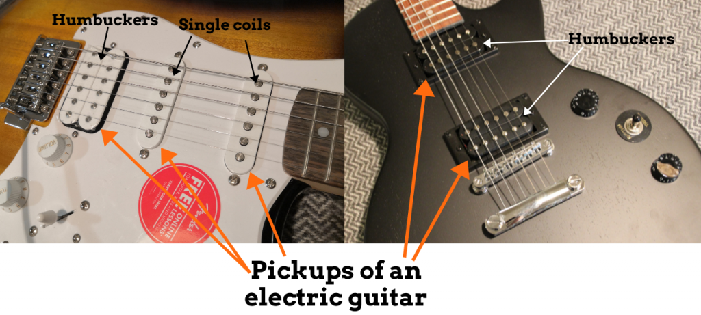 photo revals what are pickups of an electric guitar