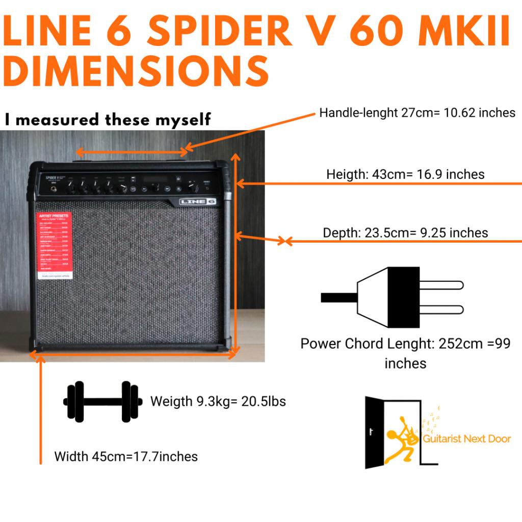 image reveals line 6 spider V 60 dimensions